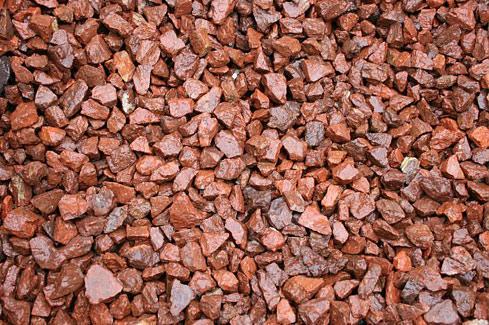 red gravel stones